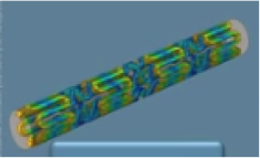 3D rendering of a coronary stent